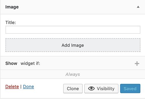 visibility of custom sidebars plugin to add widget to WordPress page