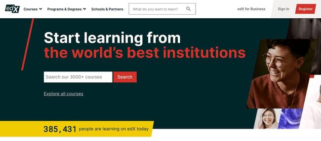 become a web developer: edx homepage