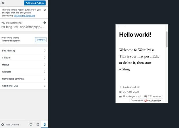 Live Preview Wordpress