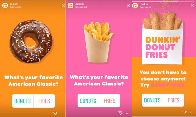 Dunkin Donuts Instagram ads