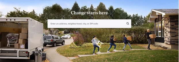 real estate landing pages: zillow