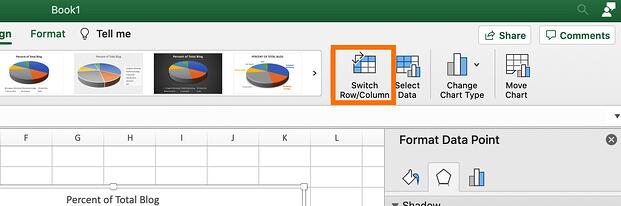 The switch row/column button in excel.