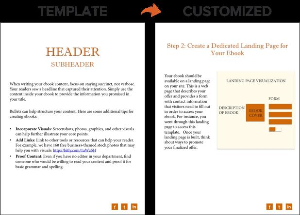 how to create an ebook - header customization