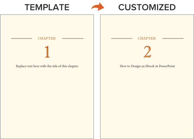 an example of duplicating ebook pages in a template