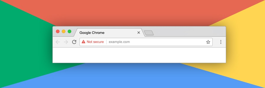 a not secure warning in a google chrome browser window