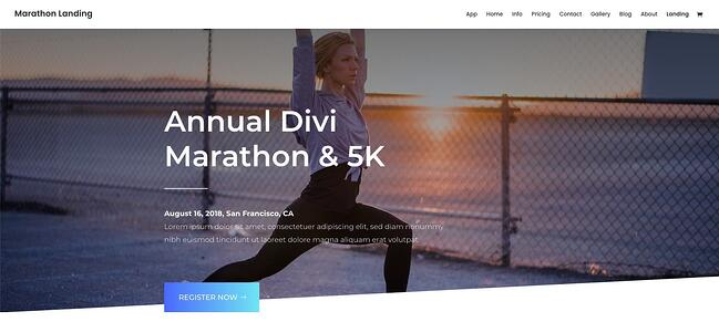 demo for the highly customizable wordpress theme divi