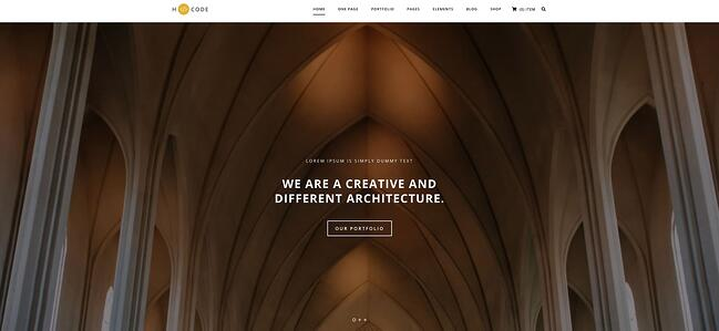 demo for the highly customizable wordpress theme h-code