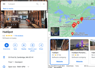 Find the review on the Google reviews page