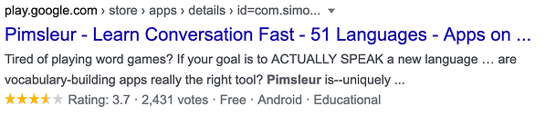 Pimsleur niche marketing