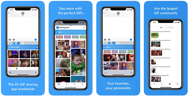 Клавиатура Tenor Mobile GIF
