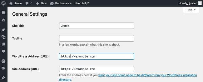 Replacing HTTP with HTTPS for the WordPress and Site URL Address in WordPress dashboard