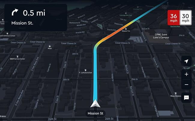 screenshot of google maps api alternative mapbox
