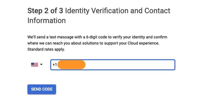 Google Maps API Key free: verify contact info