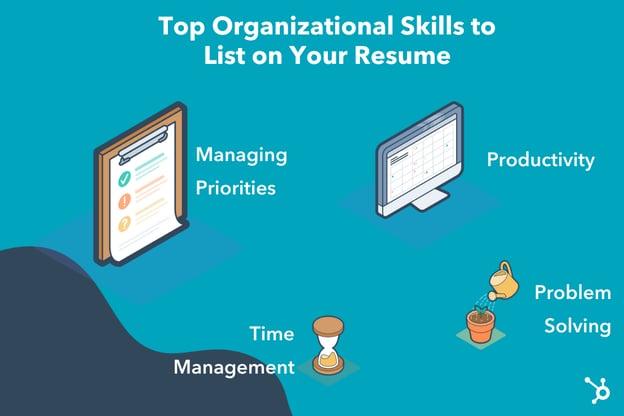 مهارت های سازمانی برای رزومه شما