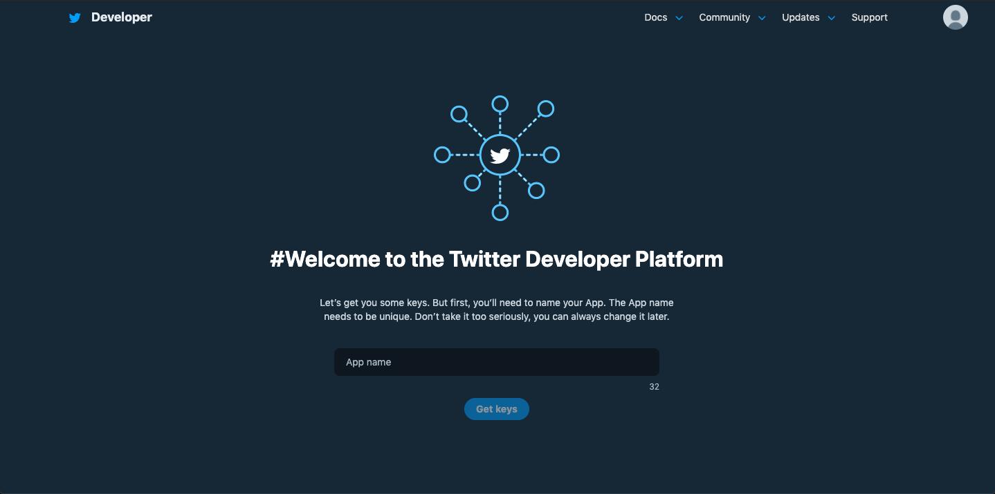Creating and naming Twitter Bot in developer platform