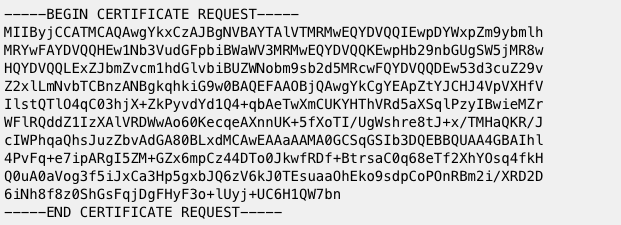 a CSR code for renewing an SSL certificate