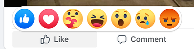 Facebook emoji reactions