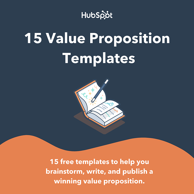 hubspot 15 free value proposition templates