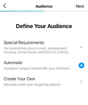 how to use instagram paid promotion: define your audience