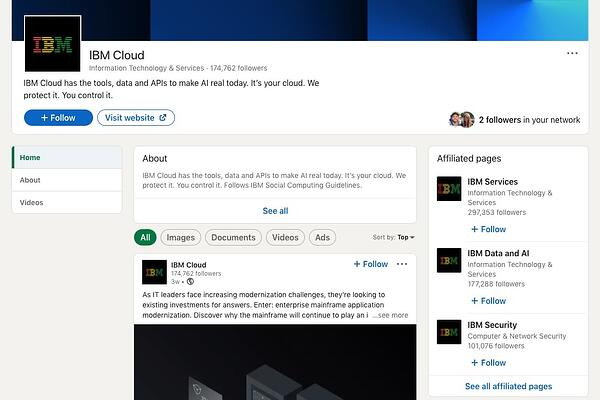 IBM Cloud LinkedIn example