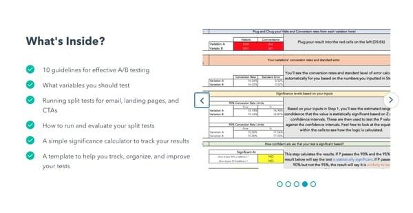 HubSpot A/B testing tool