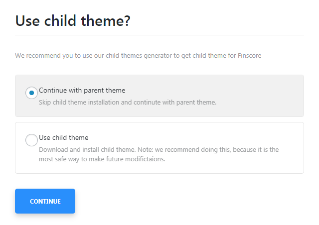 Monstroid Theme Installation: use a child theme