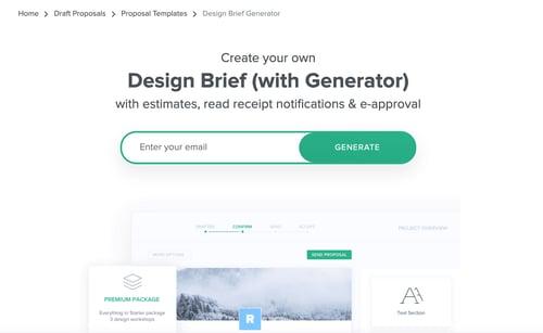 Hello Bonsai design brief generator