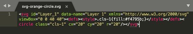 SVG simple circle XML code