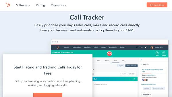 hubspot call tracker sales dialer software