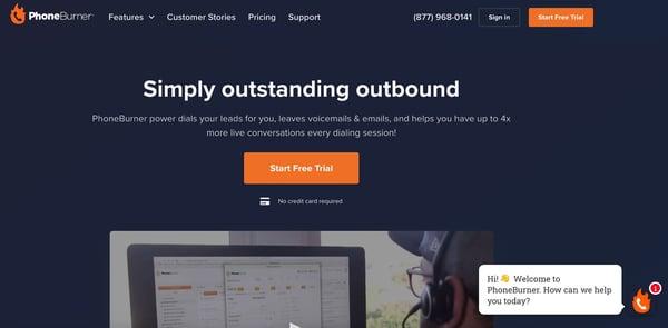 phoneburner sales dialer software