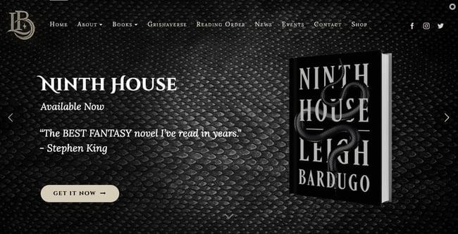 best author website: Leigh Bardugo