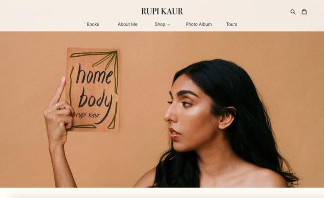 best author website: rupi kaur