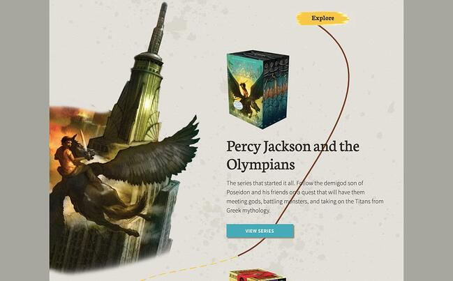best author website: Rick Riordan