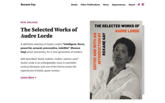 best author website: Roxane Gay