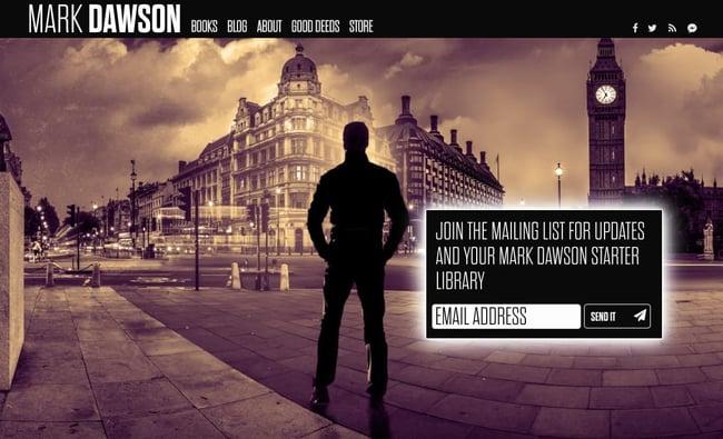 best author website: Mark Dawson
