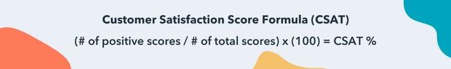 customer satisfaction score formula CSAT