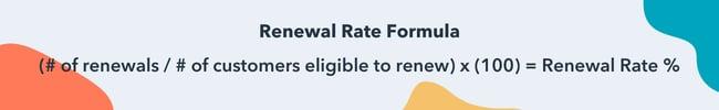 renewal rate formula