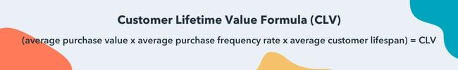 Customer lifetime value formula (CLV)
