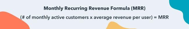 monthly recurring revenue formula MRR