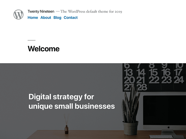 Demo homepage of the WordPress default theme for 2019