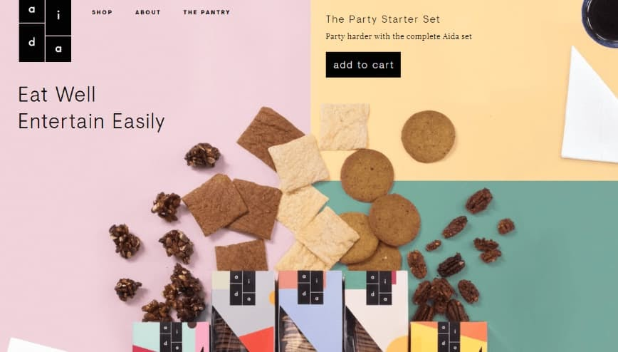example of the Terracotta, Gun Powder, Moon Raker, Acapulco, and Manhattan website color scheme