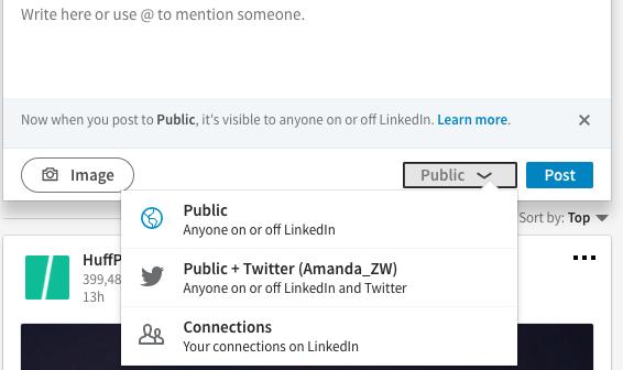 Share your LinkedIn status updates on Twitter