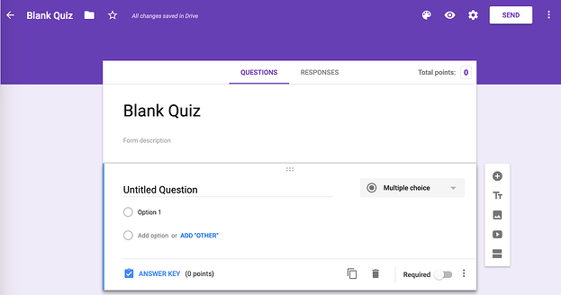 Google Forms to make quizzes