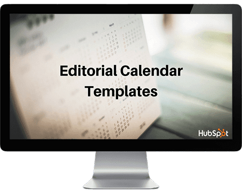 Blog editorial calendar template for Content Marketing from HubSpot
