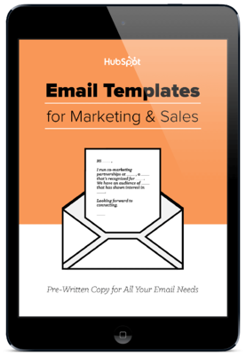15 Email Templates for Marketing and Sales from HubSpot