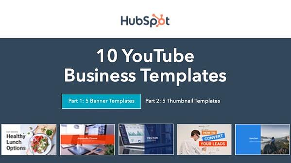 10 YouTube Business Templates for Content Marketing from HubSpot