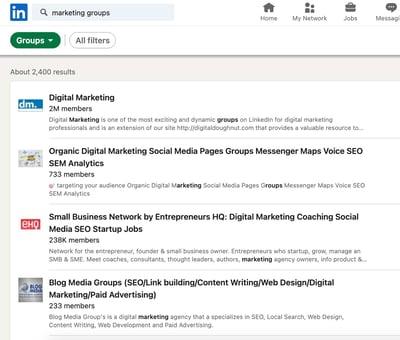 Find groups on LinkedIn Step 3.