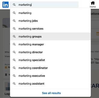 ow to Find Groups on LinkedIn step 1