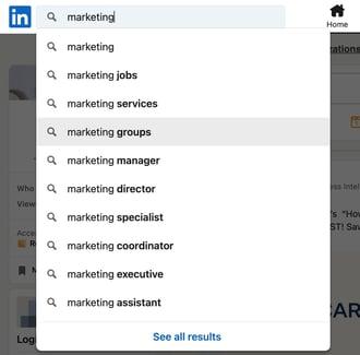 Find groups on LinkedIn Step 1.