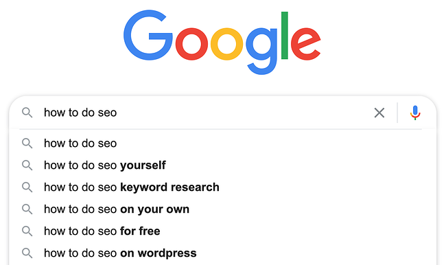 autocomplete suggestions from a google.com query